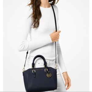 Michael Kors Black Ciara Mini Leather Crossbody